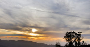 Sunset over Sweeney Ridge, Golden Gate National Recreation Area, California, USA Stock Images