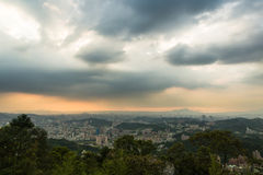 Sunset over Taipei Royalty Free Stock Photography