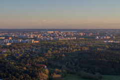 Sunset over Tallinn city residential area Royalty Free Stock Images