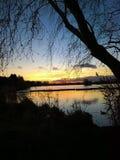 Sunset over Tarn Stock Image