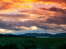 Sunset over Tayside Royalty Free Stock Image