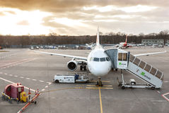 Sunset over Tegel airport. Stock Photography