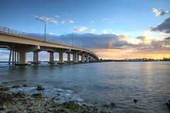 Free Sunset Over The Bridge Roadway That Journeys Onto Marco Island, Royalty Free Stock Photography - 110582007