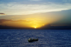 Sunset Over The Caribbean Sea Royalty Free Stock Photos