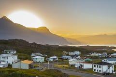 Free Sunset Over The Djupivogur Village - Iceland. Stock Photography - 28839812