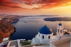 Free Sunset Over The Island Of Santorini, Cyclades, Greece Royalty Free Stock Image - 139396136