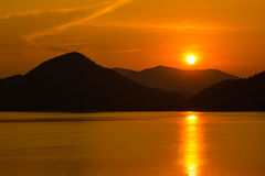 Free Sunset Over The Mountain Stock Image - 28259451
