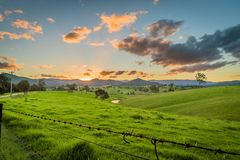 Free Sunset Over The Mountains In New South Wales, Cobargo Royalty Free Stock Photo - 122980545