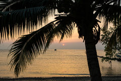 Sunset over Tioman island Royalty Free Stock Images