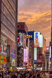 Sunset over Tokyo Akihabara Electric Town Royalty Free Stock Images