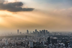 Sunset over Tokyo Royalty Free Stock Image