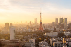 Sunset over Tokyo. Royalty Free Stock Images