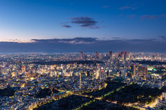 Sunset over Tokyo Royalty Free Stock Photos
