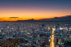 Sunset over Tokyo Royalty Free Stock Photography