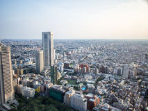 Sunset over Tokyo, View from the Metropolitan Government Building 東京都庁, Shinjuku, Japan Stock Images