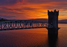 Sunset over tower bridge, Ireland Stock Image