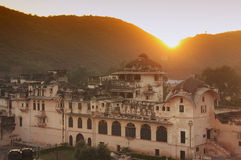 Sunset over town of Bundi, India Royalty Free Stock Photography