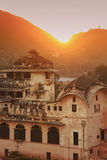 Sunset over town of Bundi, India Stock Photography