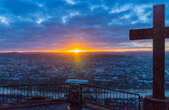 Sunset over Trier Stock Photo