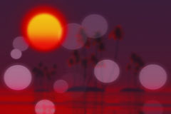 Sunset over tropic islands blurred Stock Photography