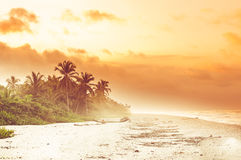 Sunset over tropical beach by Palomino in Colombia stock images
