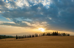 Sunset over Tuscany Stock Photos