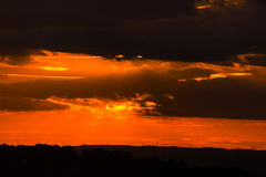 Sunset over Tyneside. Sunset over the view towards Stanly Royalty Free Stock Photography