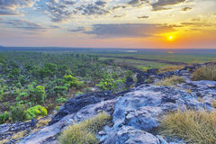 Sunset over Ubirr stock photography