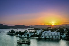 Sunset over Udaipur Royalty Free Stock Image