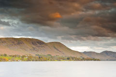 Sunset over Ullswater Stock Image