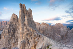Sunset over the Vajolet towers in Dolomites. Sunset over the  Vajolet towers in  Dolomites Stock Photography