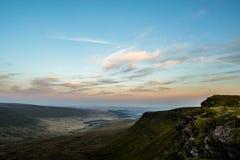 Sunset over Pen Y Fan, Mountain Range, Wales UK Royalty Free Stock Image