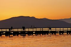 Sunset over Vancouver Bay Stock Image