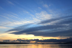 Sunset over Vancouver Bay Stock Photos