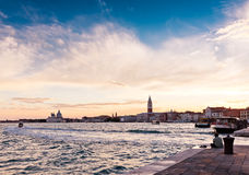 Sunset over Venice Royalty Free Stock Photography