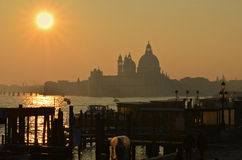 Sunset over Venice Royalty Free Stock Photos