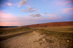 Sunset Over Vermillion Cliffs Stock Photography