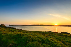 Sunset over the Victor Harbor Royalty Free Stock Photo