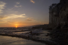Sunset over Victoria Beach tower Royalty Free Stock Image