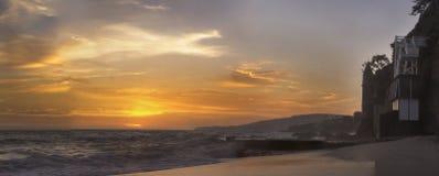 Sunset over Victoria Beach tower Stock Photo