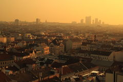 Sunset over Vienna Stock Photo