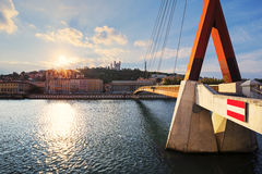 Sunset over Vieux Lyon Royalty Free Stock Image