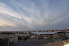 Sunset over the village of Arara ba Negev, Israel Royalty Free Stock Photos