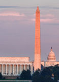Sunset over Washington DC Royalty Free Stock Image
