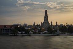 Sunset over Wat Arun, Bangkok, Thailand Royalty Free Stock Images