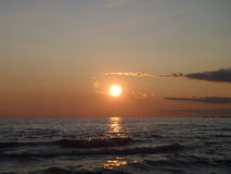 Sunset over the Water Royalty Free Stock Photography