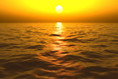 Sunset Over Water Stock Photos