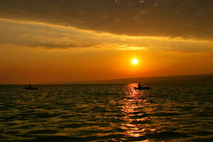 Sunset over water Royalty Free Stock Image