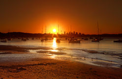 Sunset over Watsons Bay, Australia Royalty Free Stock Image
