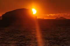 Sunset over the Weddell Sea stock image